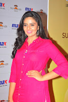 Sree Mukhi in Pink Kurti looks beautiful at Meet and Greet Session at Max Store (21).JPG