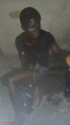 Photos: Thief Arrested After Stealing Phone In A Shop In Lagos