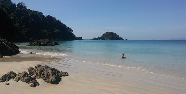 Two Sand Line Island Myanmar