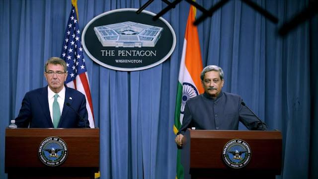 EEUU y La India firman acuerdo para uso de bases militares