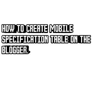 Create mobile specs for blogger