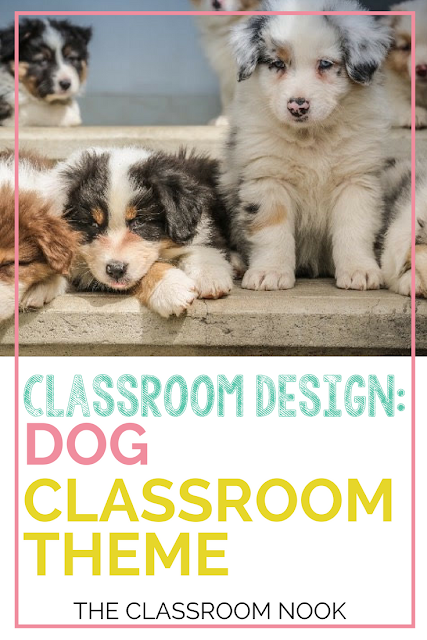 Create a dog theme classroom with these tips for dog theme bulletin board displays, dog theme accessories, printable dog theme classroom decor and more!  #classroomdesign #classroomdecorations #backtoschool #teacher #classroom