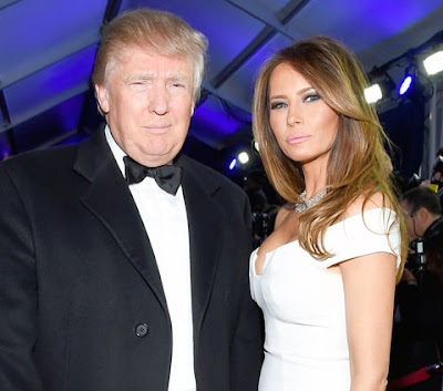 Donald J. Trump and his wife