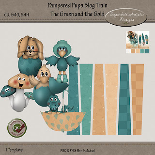 Pampered Pups Blog Train - The Green and The Gold