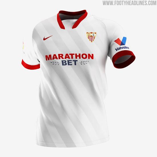 Sevilla 20 21 Home Away Third Kits Released Footy Headlines