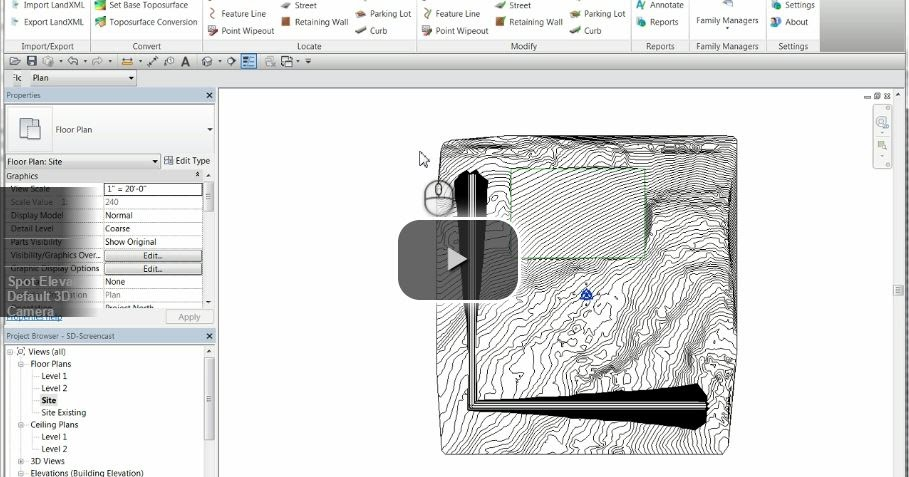 How to make revit toposurface grass