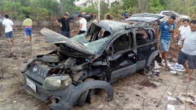 Acidente com Uno deixa um morto e dois feridos na MA-034, em Brejo