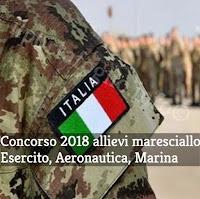 concorso 2018 allievi maresciallo esercito marina aeronautica