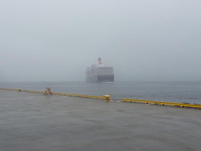 Cunard's Queen Elizabeth in Bergen, Norway; Cruise ships in Bergen