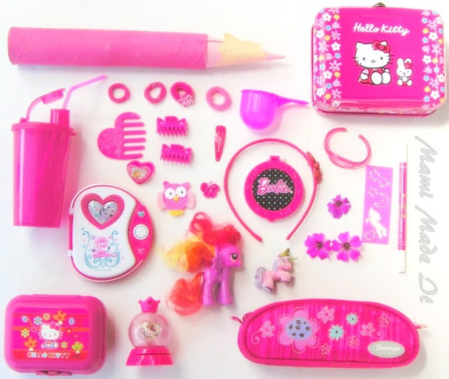 Color Collecting Picture Pink - Farbwimmelbild Pink
