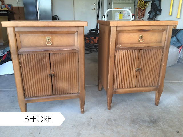 vintage nightstands, vintage end tables, vintage side tables, old nightstands, before and after, thrift store night stands