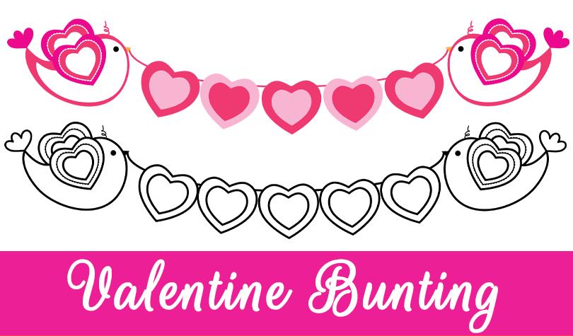 Free Valentine Bunting