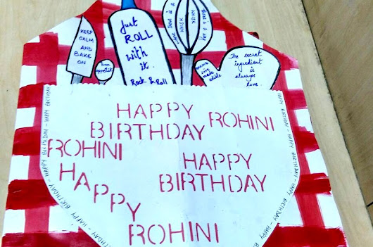 DIY Handmade Baker's Apron Birthday Card
