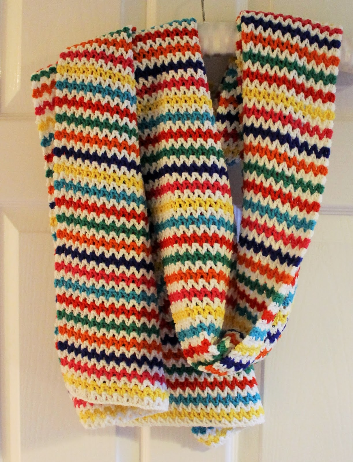 Primary Stripe Scarf Pattern