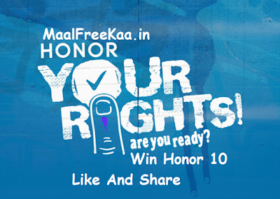 Vote right & win Honor 10 Free