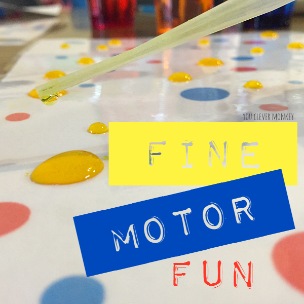 Fun Fine Motor Skills Activity - print your own dot mat for some fun fine motor practice. Perfect for preschoolers to strengthen the fine motor muscles in their hands at home or at school | you clever monkey