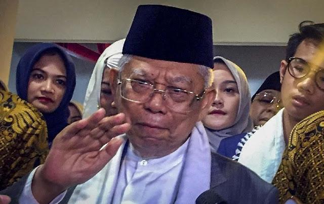 Ma'ruf soal Jokowi Kader PKI: PKI Mata Lu