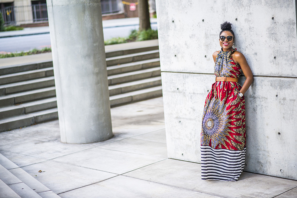 Ankara (Dutch Wax) Maxi Dress by Omoge Creations