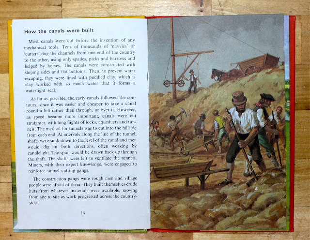 ladybird tuesday, vintage books, the story of our canals