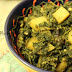 Begun Alu Diye Palong Saak (Spinach cook with aubergine and potatoes): Recipe from the Jaminder's of Savar, Dhaka, Bangladesh