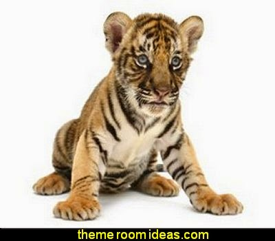 baby tiger wall decals  wild animal print bedroom decor  - leopard print decorating ideas- giraffe print - zebra print - cheetah bedroom decor - wild animal print decorating  - leopard print decor - leopard print walls -  tiger wall decal