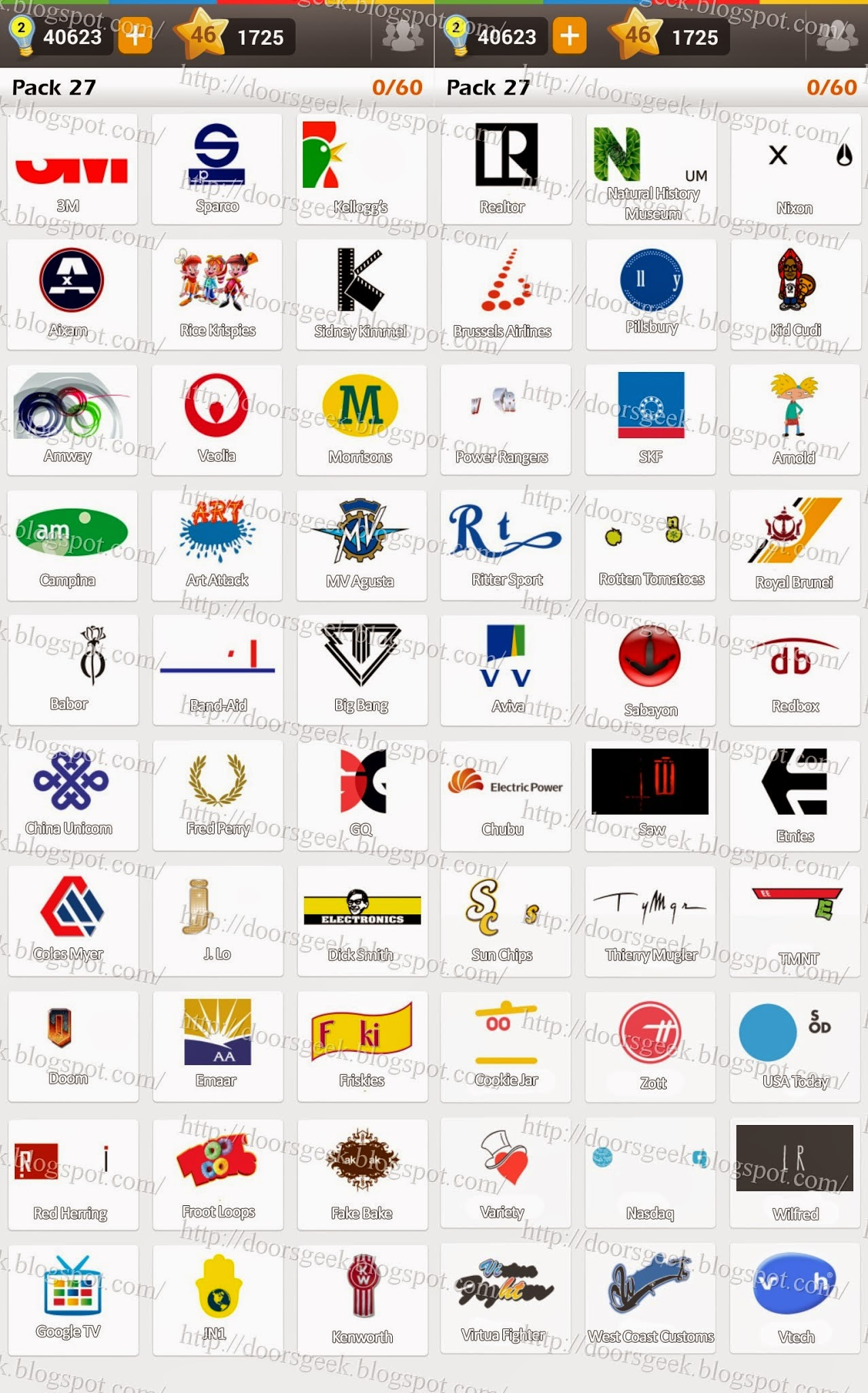 Logo game guess the brand regular pack 6 doors geek - 05 19 14 Doors Geek