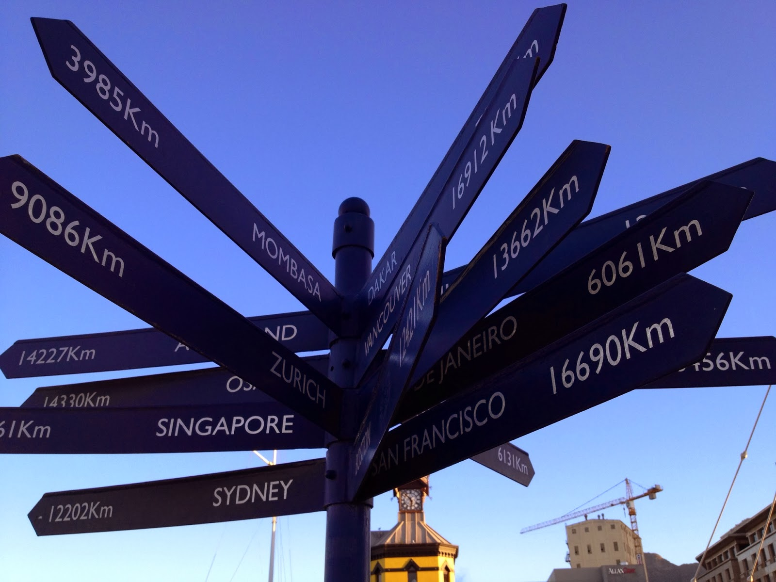 Cape Town - Cool directional arrow signs pointing to different destinations in the world