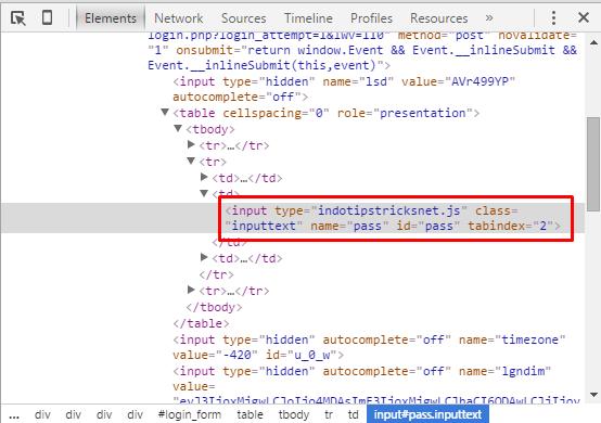 Cara hack facebook lewat browser