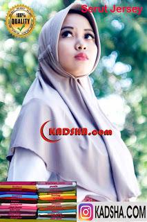 jilbab serut jersey