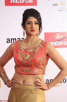 Harshika Ponnacha in orange blouuse brown skirt at Mirchi Music Awards South 2017 ~  Exclusive Celebrities Galleries 074.JPG