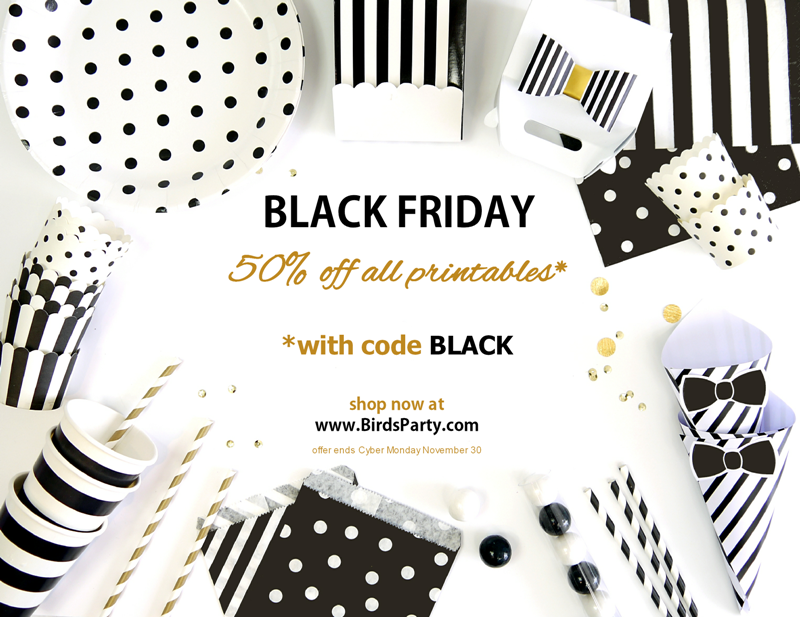 Party Supplies & Printables | 50% OFF Black Friday SALE - BirdsParty.com