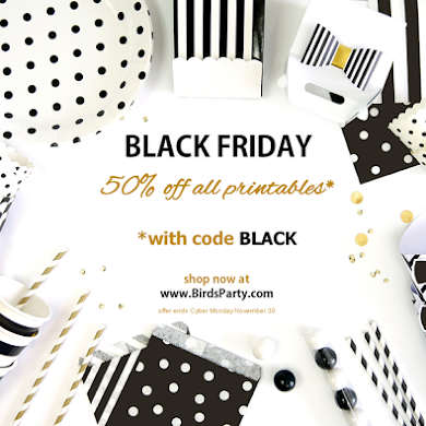 Party Supplies & Printables | 50% OFF Black Friday SALE