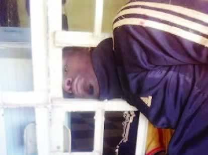 Burglar's head stuck between bars after operation