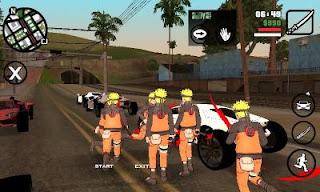 GTA San Andreas Modpack Naruto by Lutfi (Final V) Apk