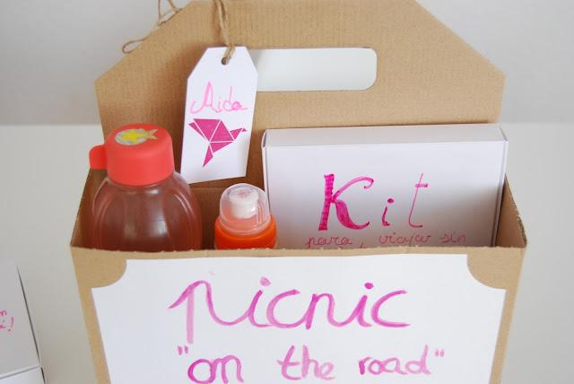 DIY picnic on the road. Picnic para viajes largos.