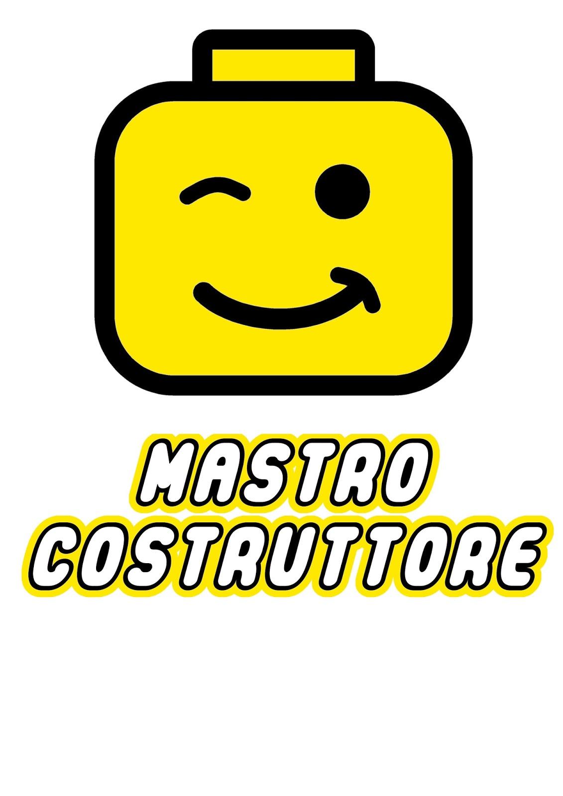 """Popolare Voglio Una Mela Blu: Magliette fai da te LEGO """"MASTRO COSTRUTTORE  CO09"""