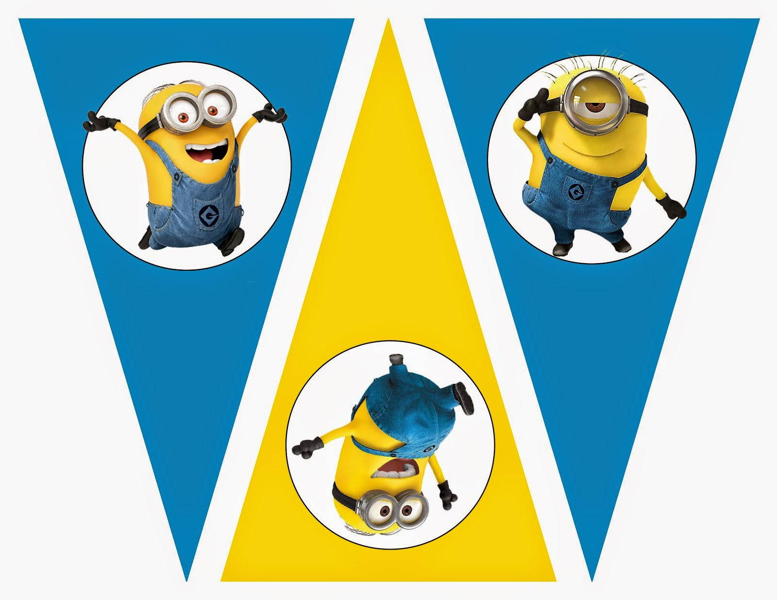 Minions Free Printable Bunting Labels And Toppers Oh