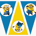 Minions: Free Printable Bunting, Labels and Toppers.