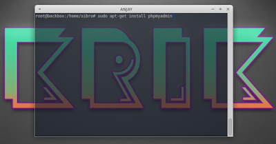 sudo apt-get install phpmyadmin