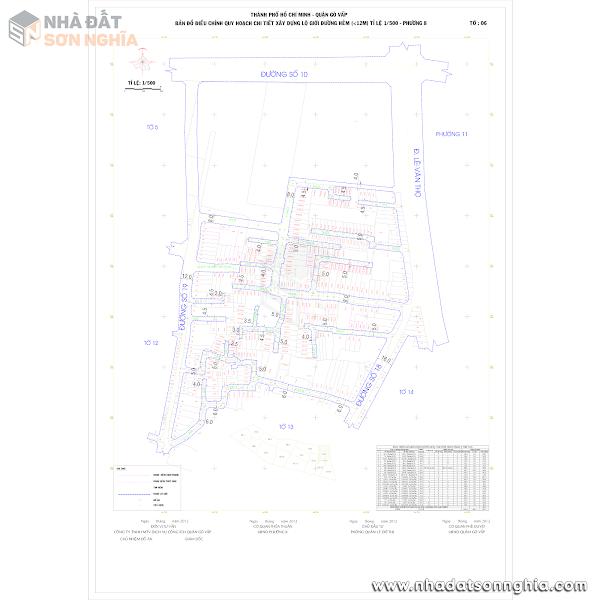 Bản đồ lộ giới hẻm phường 8 quận Gò Vấp