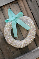 ghirlanda natalizia fai da te con perle
