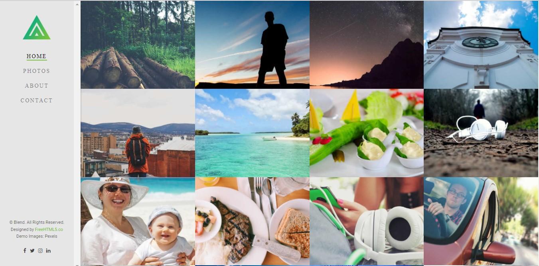 Download Free Portfolio Template - Blend - Nice Gallery type portfolio template