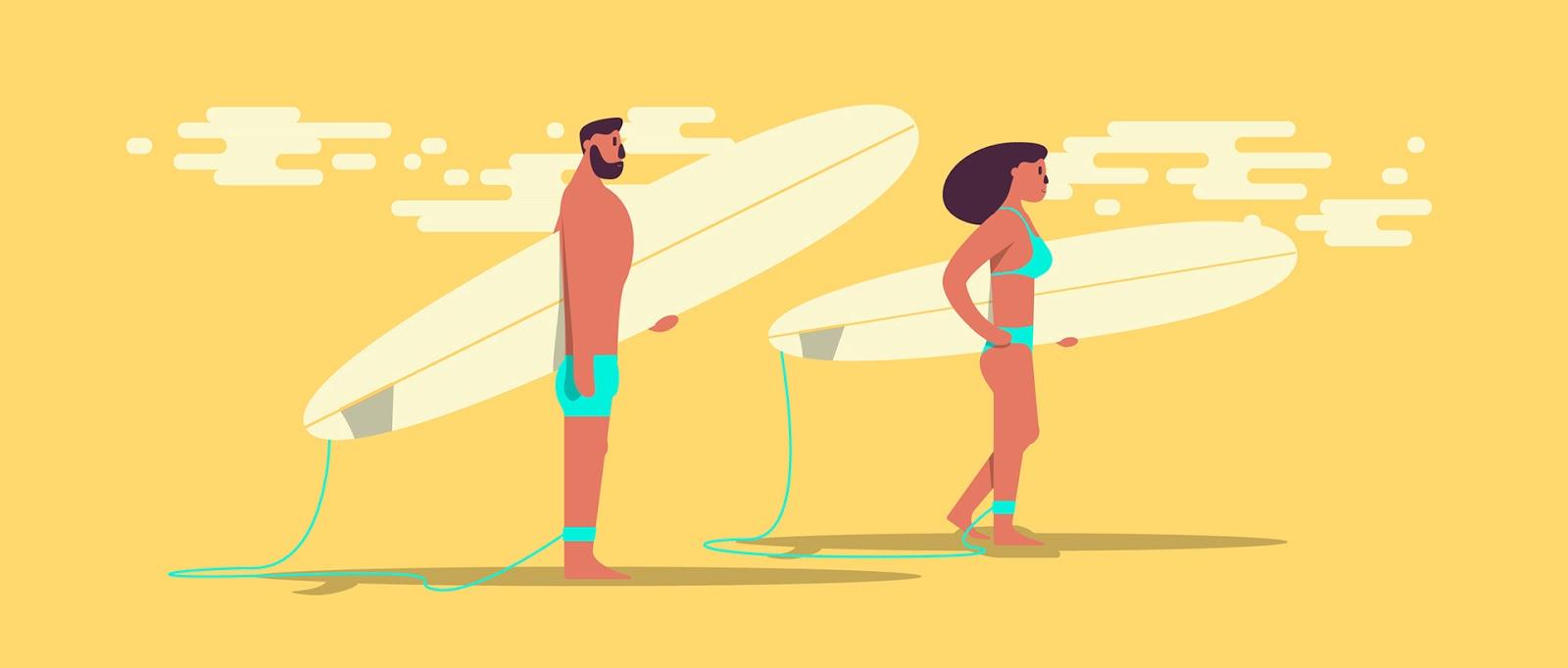 Let's Go Surfing, un proyecto de Alex Gosti