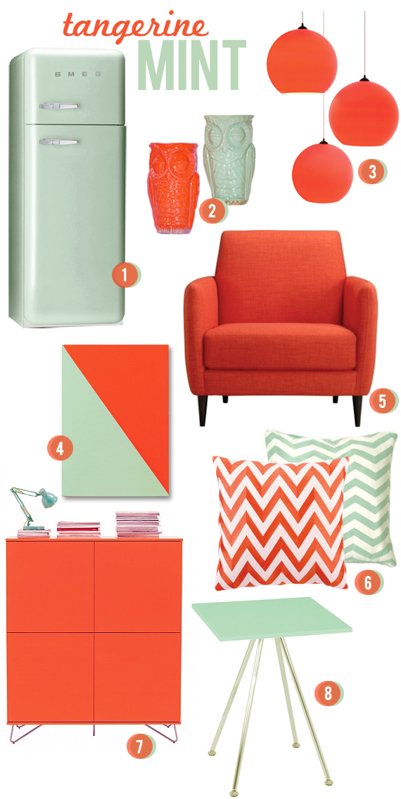 tangerine and mint