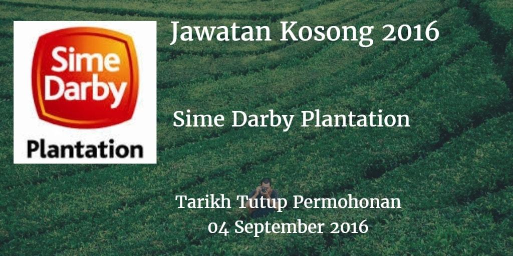 Jawatan Kosong Sime Darby Plantation 04 September 2016