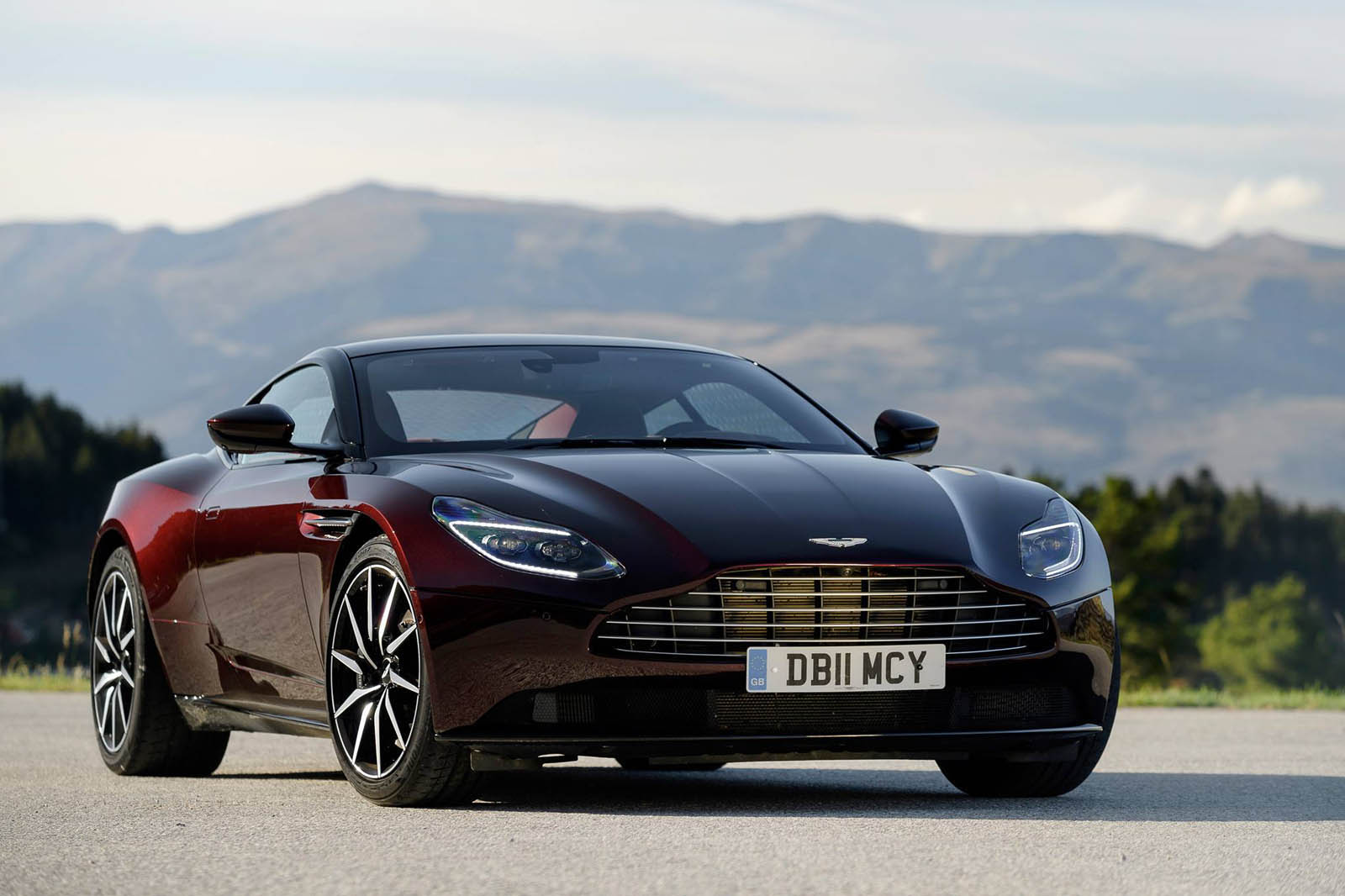 Aston Martin DB11 Looks Divine In Deep Wine Red ...