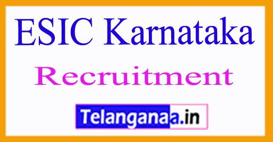 ESIC  Karnataka Recruitment 2017
