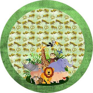Toppers o Etiquetas de La Selva Bebés para imprimir gratis.