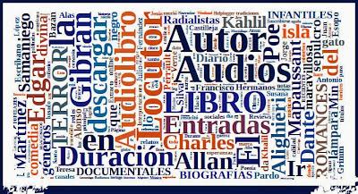 Palabras más utilizadas en el blog de audiolibros: locutor, autor, género, ect..