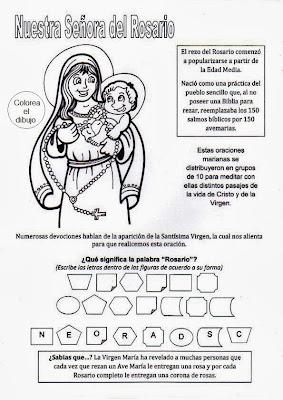 Resultado de imagen de virgen del rosario ficha